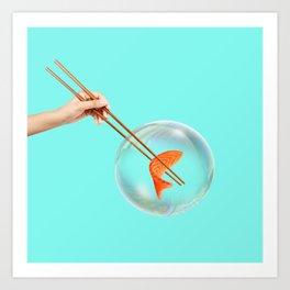 Sushi Bubble Art Print
