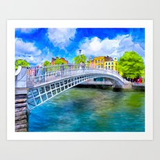 Ha'Penny Bridge - Historic Dublin Ireland Art Print