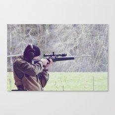 Young Shooter Canvas Print