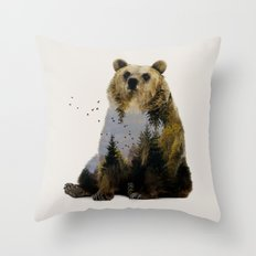 Bear Relaxing Throw Pillow