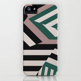 ASDIC/SONAR Dazzle Camouflage Graphic Design iPhone Case