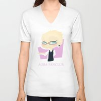 dmmd V-neck T-shirts featuring The Faded Yakuza A by Collette Ren