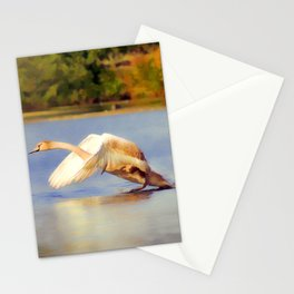"""On the Run""  - Mute Swan Stationery Cards"