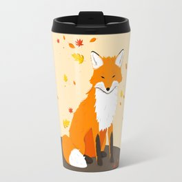 Fox in Fall Travel Mug