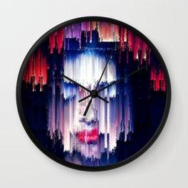 The Rain and purple poetry Wall Clock