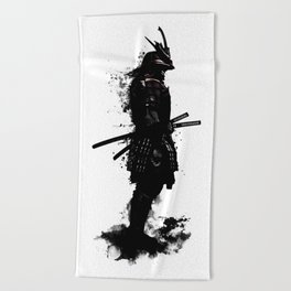 Armored Samurai Beach Towel