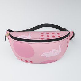 Swan origami pattern Fanny Pack
