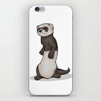 ferret iPhone & iPod Skins featuring Wild Ferret by Szilárd A Legjobb