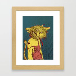 Third eye cat Framed Art Print