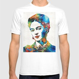 Frida Kahlo Art - Viva La Frida - By Sharon Cummings T-shirt