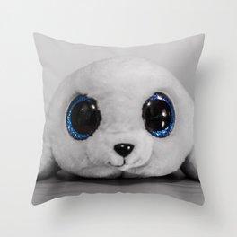 Huggable photogenic seal Throw Pillow