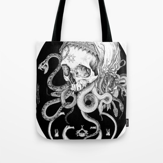 Witch Skull Tote Bag