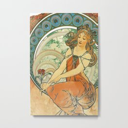 Vintage poster - Woman with flower Metal Print