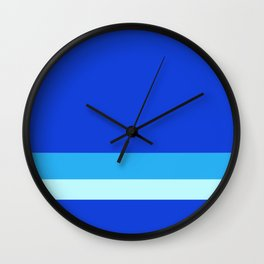 Solid Ultramarine w/ Two-Tone Light Blue Divider Lines Wall Clock