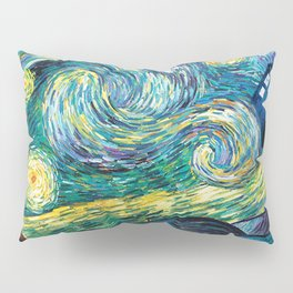 Tardis Art Starry Painting Night Pillow Sham
