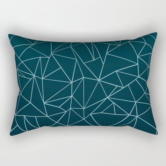 Ombre Ab Teal Rectangular Pillow