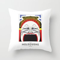 melbourne Throw Pillows featuring Melbourne by George Williams