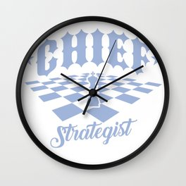 Chess Chief Strategist Chess Player Wall Clock