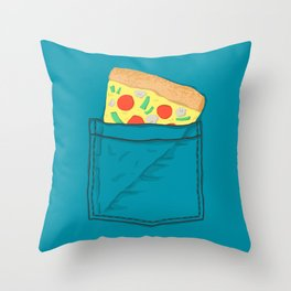 Emergency supply - pocket pizza Throw Pillow