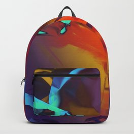New Dream. Blue, Yellow and Red Abstract. Backpack