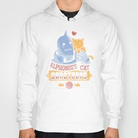 fullmetal Hoodies featuring Alphonse's Cat Sanctuary by adho1982