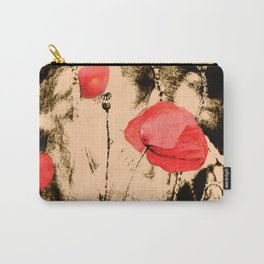 Art Poppy Carry-All Pouch
