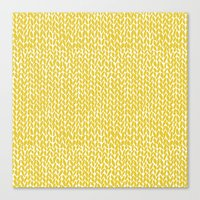 Hand Knit Yellow Canvas Print