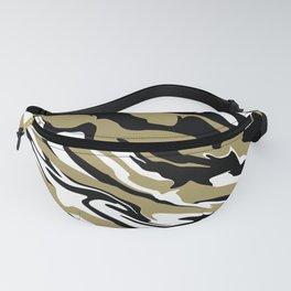 Golden Zebra Fanny Pack