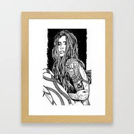 Tattoo Lady Framed Art Print