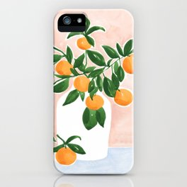 Orange Tree Branch in a Vase iPhone Case