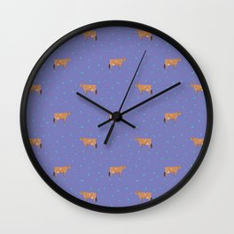 Jerseys // Purple Wall Clock