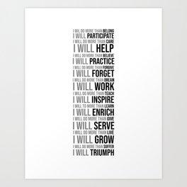 I Will Do More Than Belong, Office Decor Ideas, Wall Art Art Print