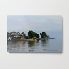 Crooked Boathouse Metal Print