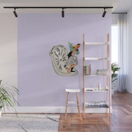 running out of time lavender Wall Mural