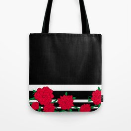Floral Bloom - Red Flower Vines Tote Bag