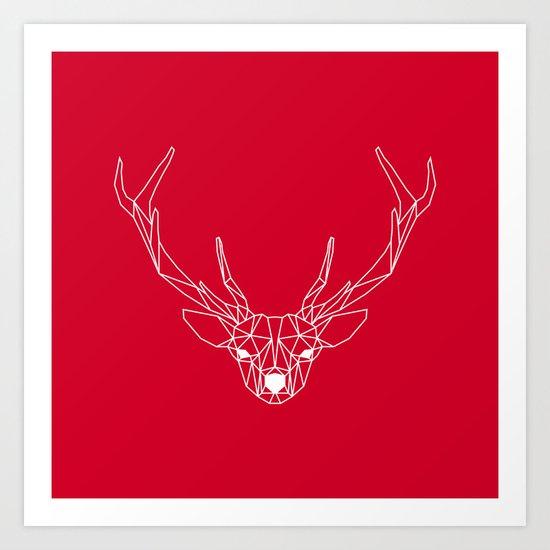 Deer III Art Print