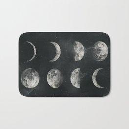 Watercolor moon phases Bath Mat