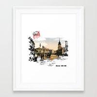 poland Framed Art Prints featuring Poland, Warsaw 1890-1900 by viva la revolucion