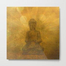 glowing Buddha Metal Print