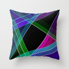 Multicolored silk 3 Throw Pillow