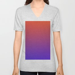 STEAM SCENE - Minimal Plain Soft Mood Color Blend Prints Unisex V-Neck