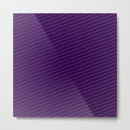 purple wave background Metal Print