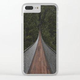 Capilano Suspension Bridge Clear iPhone Case