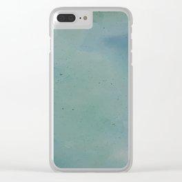 Watercolour Lagoon Clear iPhone Case