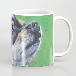 Chihuahua dog art portrait from an original painting by L.A.Shepard Coffee Mug