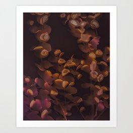 Eucalpytus Leaves II Art Print