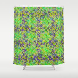 Polyp Green - Coral Reef Series 015 Shower Curtain