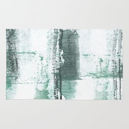 Gray green stained watercolor texture Rug