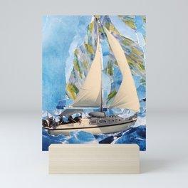 They Sailed the Atlantic Mini Art Print