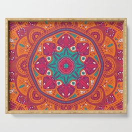 Colorful Mandala Pattern 017 Serving Tray